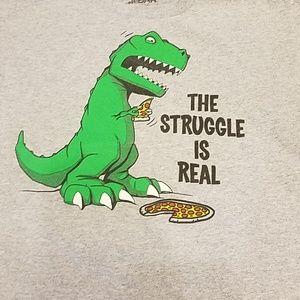 👦👕🦕🍕 Dinosaur eating pizza Tshirt